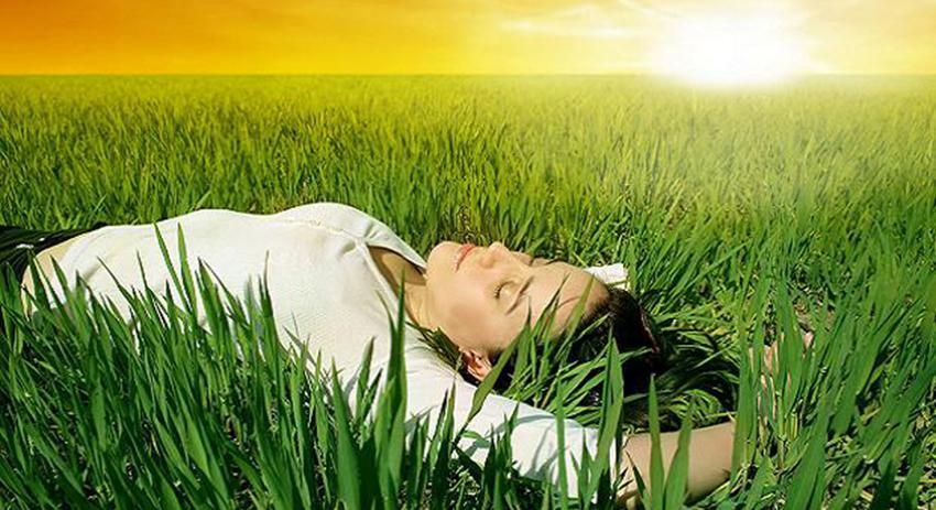 descansar y relajarse